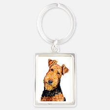 Airedale Terrier Portrait Keychain