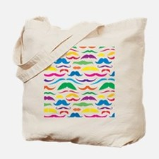 Mustach Color Pattern Tote Bag