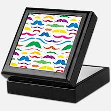Mustach Color Pattern Keepsake Box