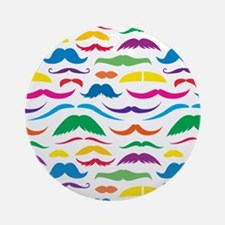 Mustach Color Pattern Round Ornament