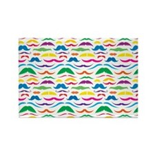Mustache Color Pattern Rectangle Magnet