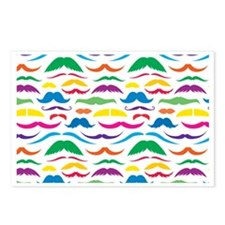 Mustach Color Patte... Postcards (Package of 8)