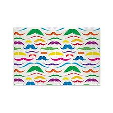 Mustach Color Patte... Rectangle Magnet