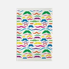 Mustach Color Pattern Rectangle Magnet
