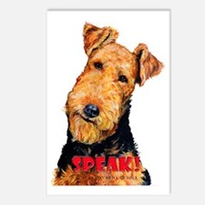 Airedale Speak! Postcards (Package of 8)