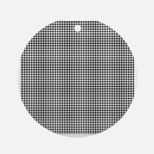 Houndstooth Round Ornament