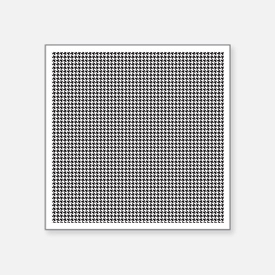 "Houndstooth Square Sticker 3"" x 3"""