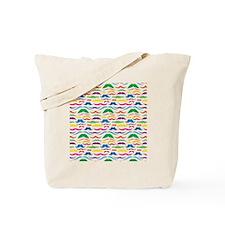 Mustache Color Pattern Tote Bag