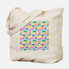 Mustache Color Pattern Tote Bag