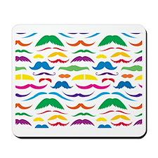Mustach Color Pattern Mousepad