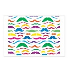 Mustach Color Pattern Postcards (Package of 8)