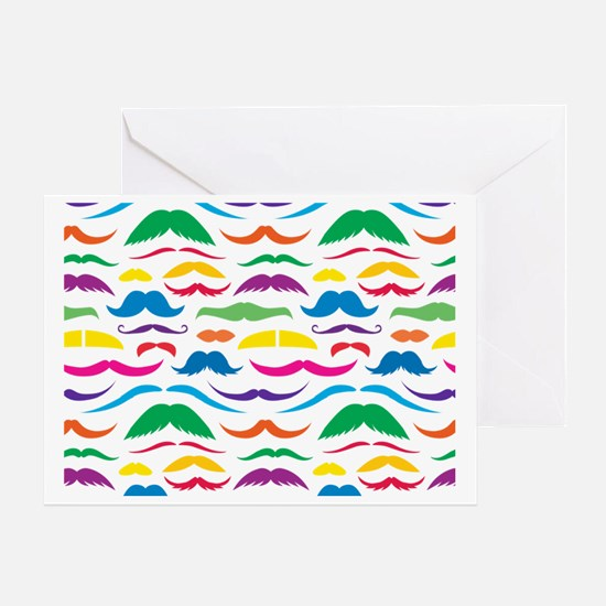 Mustach Color Pattern Greeting Card