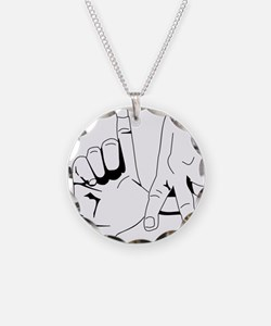 L.A. Hand Sign Necklace