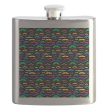 Mustach Color Pattern B Flask