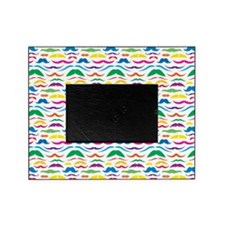 Mustache Color Pattern Picture Frame