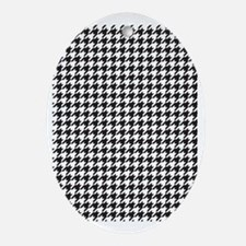 Houndstooth Oval Ornament