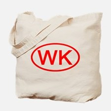 WK Oval (Red) Tote Bag