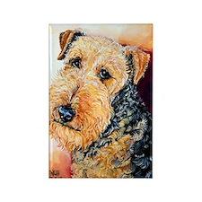 Airedale Terrier Portrait Rectangle Magnet