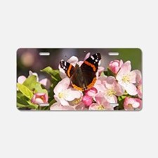butterfly blossons Aluminum License Plate