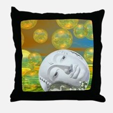 Peace – Golden and Emerald Serenity Throw Pillow