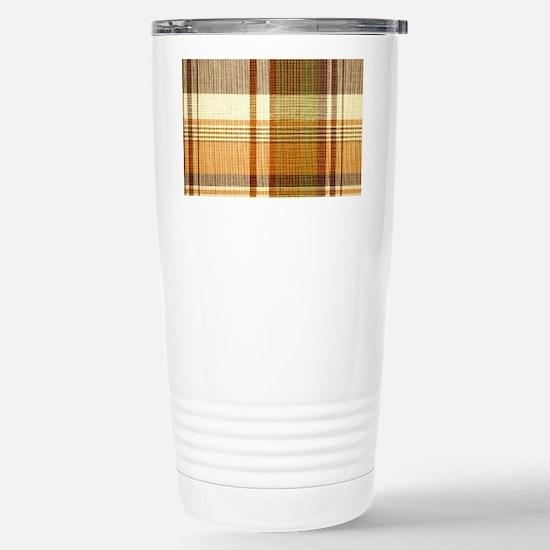 Mens_plaid_2 Stainless Steel Travel Mug