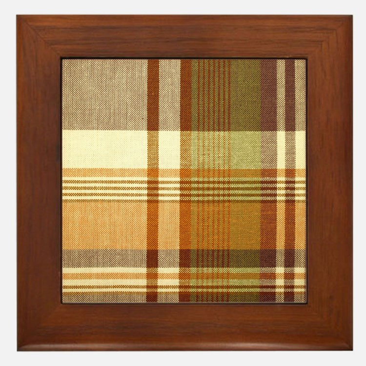 Mens_plaid_2 Framed Tile
