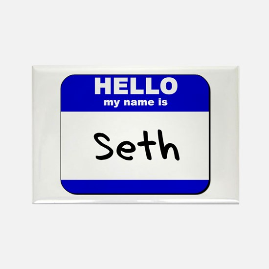 hello my name is seth Rectangle Magnet