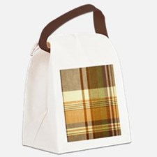 Mens_plaid_2 Canvas Lunch Bag