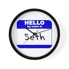 hello my name is seth  Wall Clock