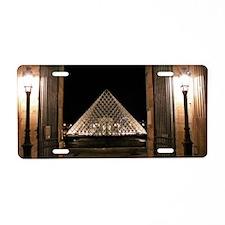Louvre Aluminum License Plate