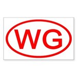 WG Oval (Red) Rectangle Sticker