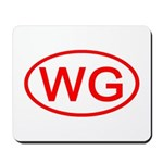 WG Oval (Red) Mousepad