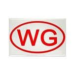 WG Oval (Red) Rectangle Magnet