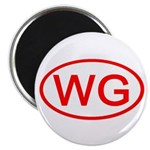 WG Oval (Red) Magnet