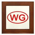 WG Oval (Red) Framed Tile