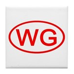 WG Oval (Red) Tile Coaster