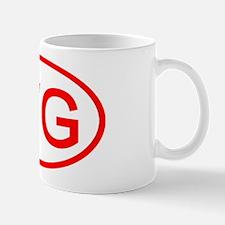 WG Oval (Red) Mug