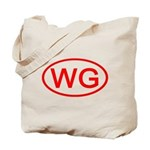 WG Oval (Red) Tote Bag