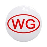 WG Oval (Red) Ornament (Round)