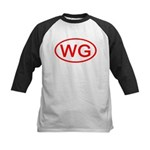 WG Oval (Red) Kids Baseball Jersey