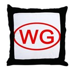 WG Oval (Red) Throw Pillow