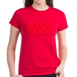WG Oval (Red) Women's Dark T-Shirt