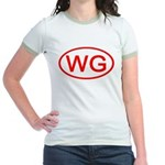 WG Oval (Red) Jr. Ringer T-Shirt