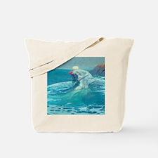 Vintage Mermaid and Mortal Tote Bag