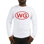 WG Oval (Red) Long Sleeve T-Shirt