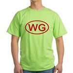 WG Oval (Red) Green T-Shirt