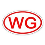 WG Oval (Red) Oval Sticker