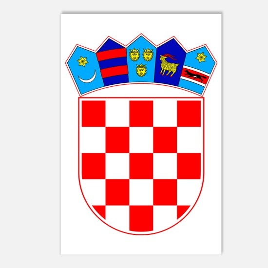 Coat of Arms of Croatia Postcards (Package of 8)