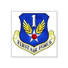"1st Air Force Square Sticker 3"" x 3"""
