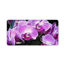 Purple orchids, Aluminum License Plate